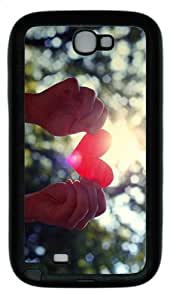 on sale covers Love Heart Hands TPU Black case/cover for samsung galaxy N7100/2