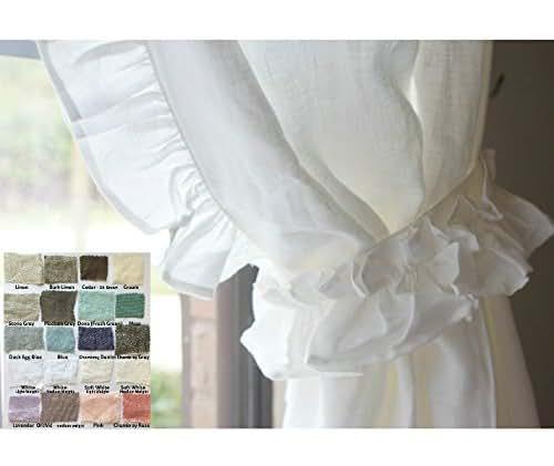 Linen Curtains Amazon Com: Amazon.com: Natural Linen Curtains With Leading Edge
