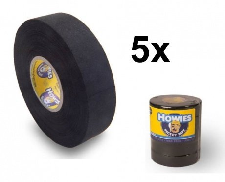 Howies 5x Schlägertape Cloth Hockey Tape 25mm f. Eishockey 18, 2m black