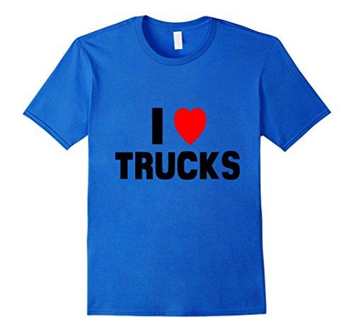 Men's I Love Trucks Shirt Funny Donald Trucker Washington...