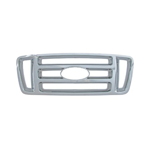 Bully  GI-18 Triple Chrome Plated ABS Snap-in Bar Style Imposter Grille (Chrome Grill Grille Overlay)