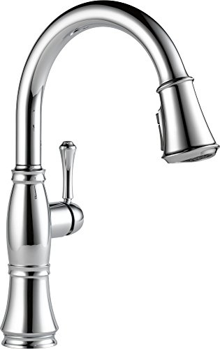 Delta Chrome Spray Faucet (Delta 9197-DST Cassidy Single-Handle Pull-Down Kitchen Faucet with Magnetic Docking Spray Head, Chrome)