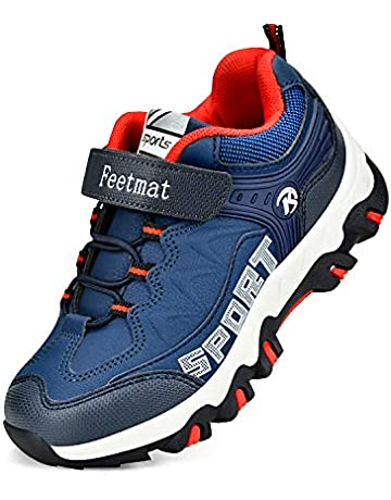 new products 9c2cd 61ec6 QANSI Boys Sneakers Waterproof Kids Tennis Running Hiking Shoes