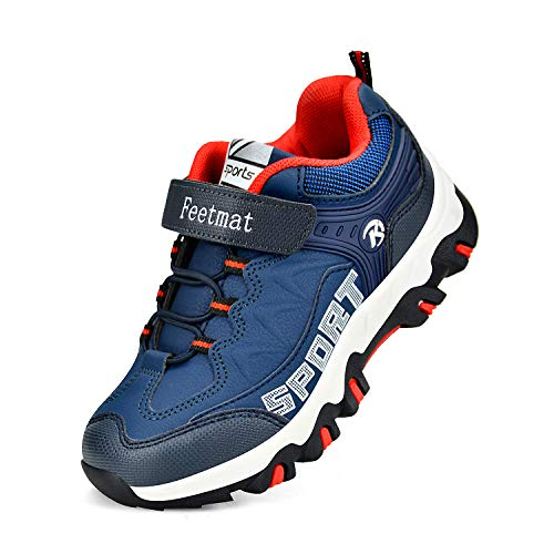 Troadlop Unisex Child Hiking Shoes Boys Walking Running Tennins Athletic Trail Sneakers Navy Size 12 M US Little Kid