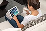 LapGear Heritage Microbead Tablet Pillow Stand with Phone Pocket - Gray Herringbone - Fits Most Tablets - Style No. 35608