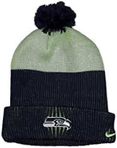 Nike Seattle Seahawks Sport Knit Pom Pom Hat Midnight Action Green One Size 84421080f