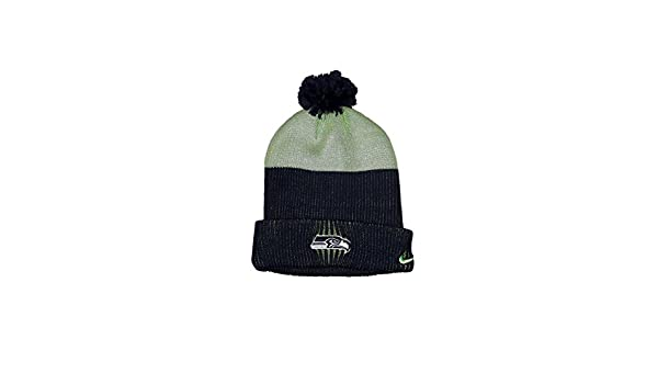 Amazon.com  Nike Seattle Seahawks Sport Knit Pom Pom Hat Midnight Action  Green One Size  Sports   Outdoors 50841b292