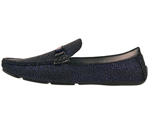 Brogan Mens Amali Quint Loafer amp; Metallic Dress and Blue Style Shoe Black Driving Driver Speckled Comfort 7qpaxwqd1