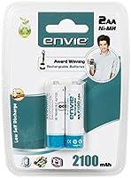 Envie 2 x AA 2100mAh Ni-Mh Rechargeable Batteries
