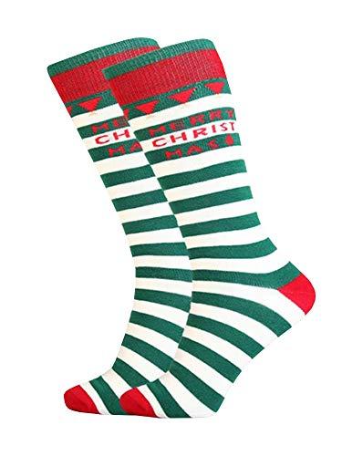 PASLTER Unisex Adult Socks Happy Holiday Dress Socks Cute Novelty Funny Sock Mens Crew Cozy Festive Socks Womens Casual Happy Holiday Colorful Striped Snowmen Socks Unisex