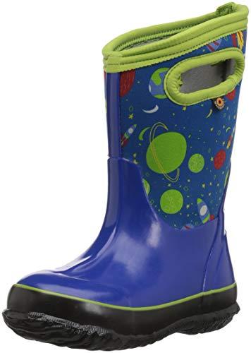 Bogs Classic High Waterproof Insulated Rubber Neoprene Rain Boot Snow, Space Blue/Multi, 12 M US Little Kid