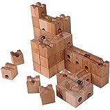 CUBLOCK 知育 木製ブロック 立体パズル 立体迷宮 積み木 スタンダード 60ピース