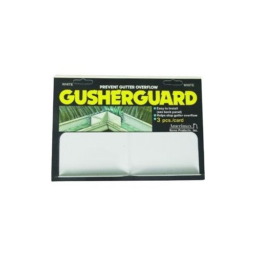 Amerimax 3PK White Gusher Guard Home Products 25074 GusherGuard, Pack of 1 from Amerimax