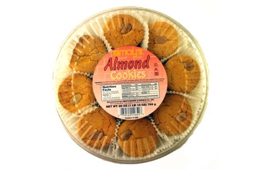 Almond Cookies (Chinese Style/51-ct) - 28oz (Pack of 1) (Best Chinese Almond Cookies)