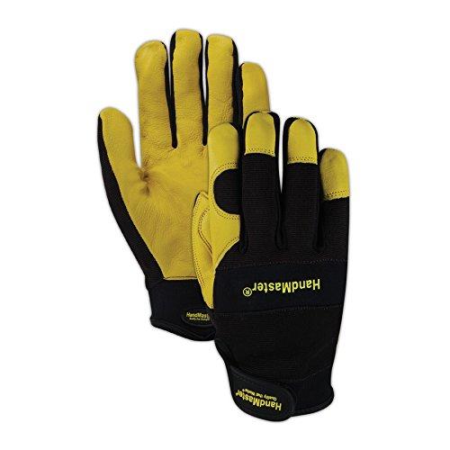 Magid Glove & Safety MECH105L HandMaster MECH105 Sheepskin Leather Palm Mechanics Gloves, Full Finger, Large, Brown - Finger Sheepskin Leather Glove