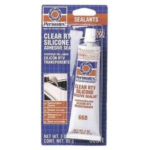 Permatex Clear RTV Silicone Adhesive Sealants, 3 oz Tube, ()
