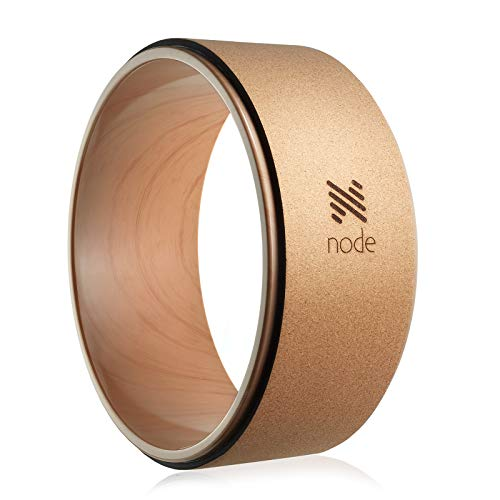 Node Fitness 13″ Professional Cork Yoga Wheel – Wood Grain
