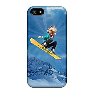 Hot Design Premium KpO1675jwdr Tpu Case Cover Iphone 5/5s Protection Case(ed Hardy Snowboarding)