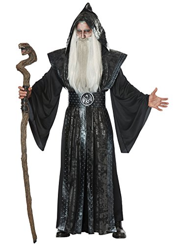 California Costumes Men's Dark Wizard Adult Man Costume, Black, Large/XLarge