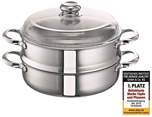 Schulte-Ufer All/Food Steamer Romana i, Steam Pot, Stainless Steel 18/10, 24 cm, 2.5 L, 0123-24 i