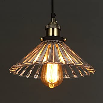 ONEPRE Vintage Modern Glass Hanging Lighting Pendant Light For Kitchen Island