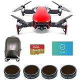 DJI Mavic Air Flame Red - Bundle 64GB MicroSDXC Card, Hard Case Backpack, FS Labs FS62 Multi-Coated 4-Pack Filter, Care Refresh Mavic Air
