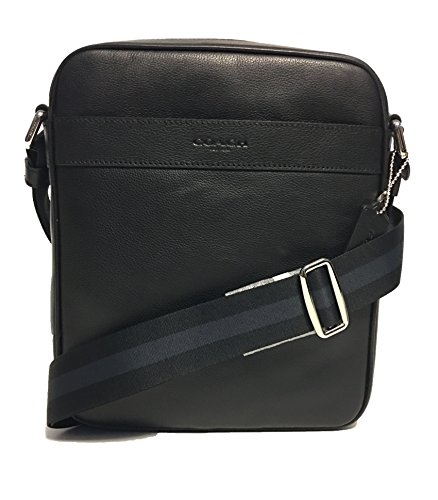 Coach Outlet Mens Crossbody Messenger Bag Black Leather F54782 BLK by Coach