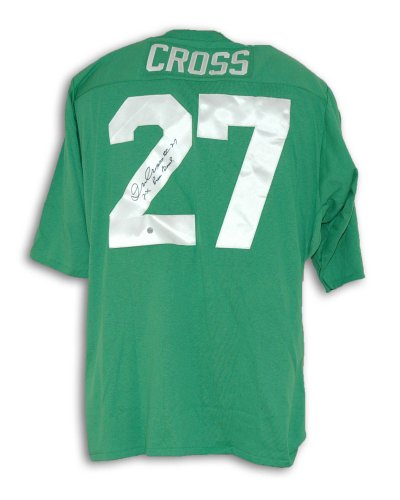 Irv Cross Philadelphia Eagles Autographed Green Throwback Jersey Inscribed