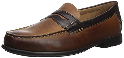 Nunn Bush Mens Drexel Kore Classico Loafer Moc Toe Centesimo Slip-on Marrone / Scozzese