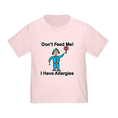 CafePress Don't Feed Me Cute Toddler T-Shirt, 100% Cotton Pink