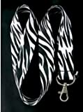 Zebra Black/White Lanyard keychain holder 25mm x 48cm
