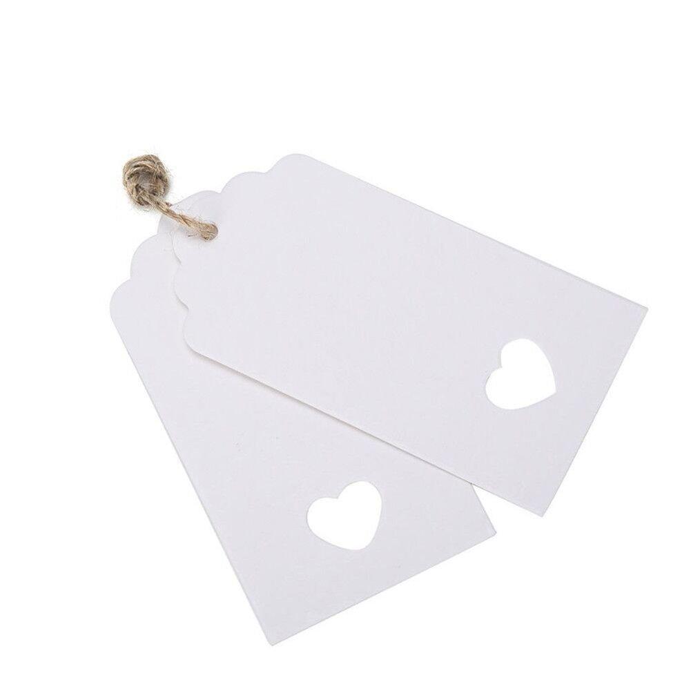Unicoco A forma di cuore hole Kraft etichette regalo 100pcs/lotto indumento prezzo tag 9.5*4.5cm copertina rigida Cards DIY etichette per regali