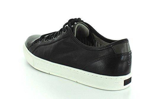 Sperry Zapatos de Hombre Deporte Casual Cuero ASV Gold Cup Zapatillas Negro / Blanco
