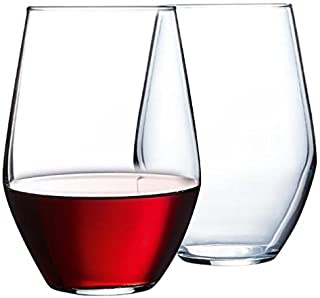 product image for Luminarc 12 Piece ARC International Concerto Stemless Wine Glass, 19 oz, Clear by Luminarc