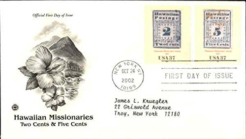 Hawaiian Missionaries two cents & five cents Original First Day Cover