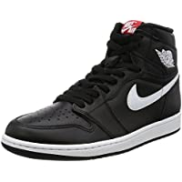 642a6a373fc32 Nike Air Jordan 1 Retro High OG Black White Mens Basketball Shoes Size 10