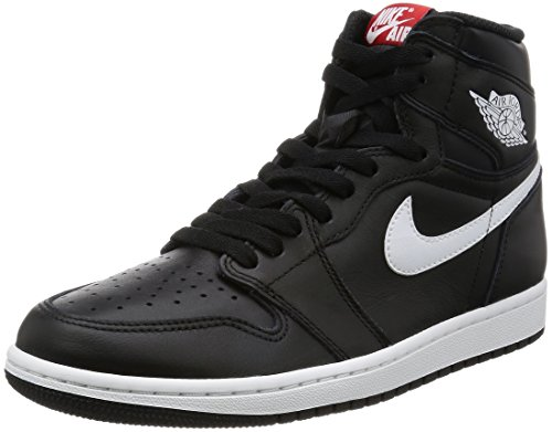Nike Air Jordan 1 Retro High OG Black/White Mens Basketball Shoes Size 10.5 by Jordan