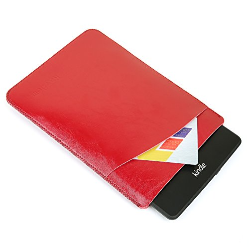 Kindle Sleeve Case, Protective Slim Leather Sleeve Leather Case for Kindle Paperwhite 1&2&3/New-kindle/Kindle Voyage Microfiber Leather Waterproof Sleeve Case for 5