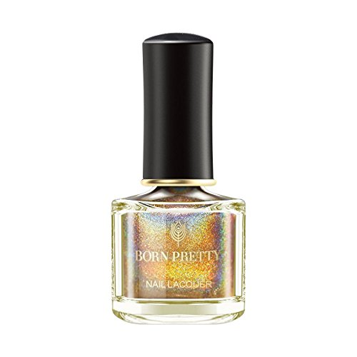 BORN PRETTY Nail Polish Holographic Glitter Polish Super Shine Manicure Varnish Lacquer 6ml R10