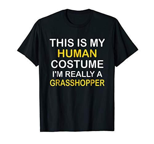 I'm a GRASSHOPPER Halloween Costume Idea Funny Gift Tshirt -