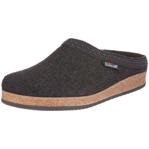 Stegmann Stegmann 108 17801_Wolle Unisex - Erwachsene Pantoffeln Grau (Graphit 8801)