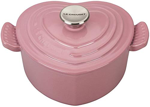 Dutch Oven Cerise Rose Pink Heart Cocottes Cast Iron Coated Enamel Kitchen Cookware Homey Delight
