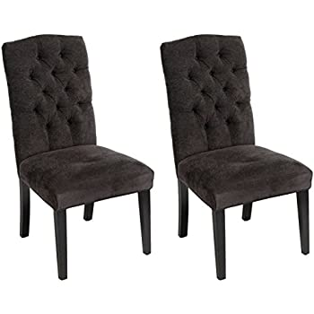 Crown Top Dark Grey Dining Chairs (Set Of 2) By Christopher Knight Home