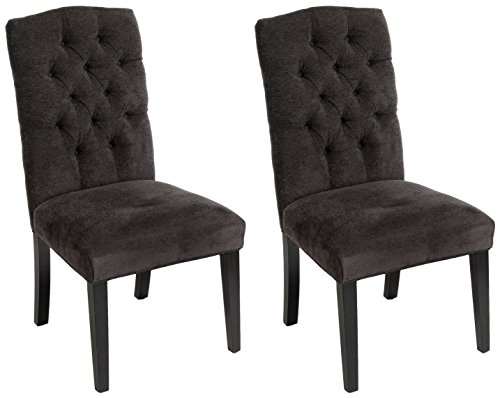 Christopher Knight Home 234897 Crown Top Dark Grey Dining Chairs (Set of 2) (Grey Dining Chairs Dark)