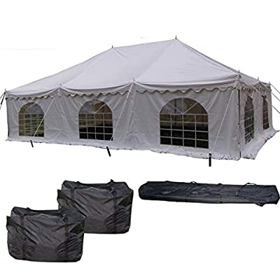 DELTA Canopies 30'x20' PVC Pole Tent - Heavy Duty Wedding Party Canopy Shelter - with Storage Bags : Family Tents : Garden & Outdoor
