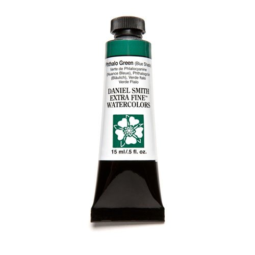 DANIEL SMITH Extra Fine Watercolor 15ml Paint Tube, Phthalo Green Blue Shade (Winsor Shade Yellow Green)