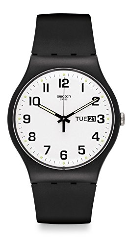 Swatch Twice Again White Dial Plastic Silicone Quartz Unisex Watch ()