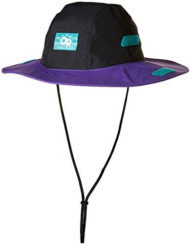 Outdoor Research Seattle Sombrero Retro Hat, Black/Purple Rain, Large