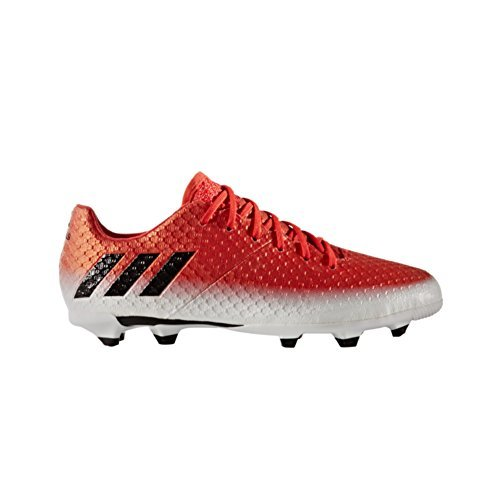adidas Messi 16.1 FG Kids Soccer Cleat 5.5 Red-Black-White