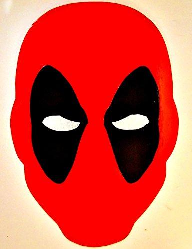 Deadpool Mask Face Metal splatter spray paint art marvel (Metal Face Paint)
